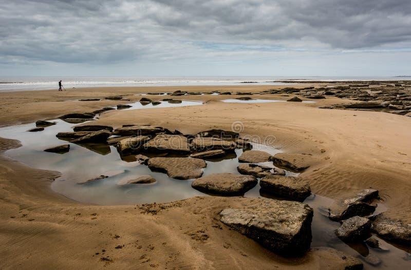 Zatoka Dunraven przy niskim napływie obraz royalty free