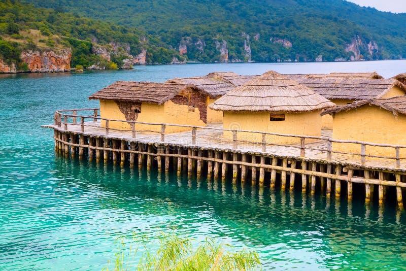 Zatoka kości, Jeziorny Ohrid, republika Macedonia obraz stock