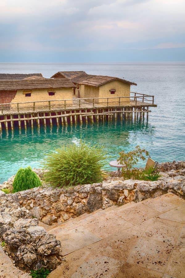 Zatoka kości, Jeziorny Ohrid, republika Macedonia obrazy stock