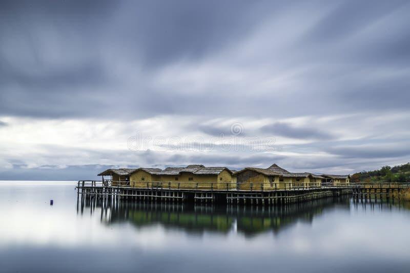 Zatoka kości na Ohrid jeziorze obrazy royalty free