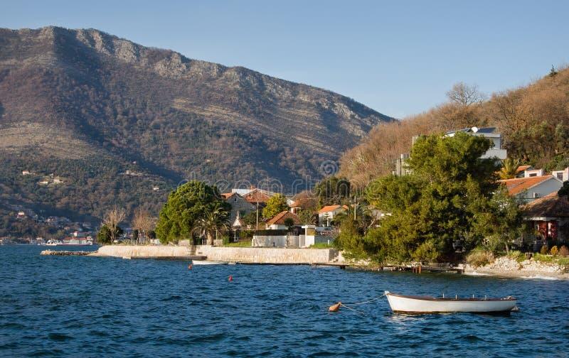 Zatoka Kotor, Montenegro zdjęcia stock