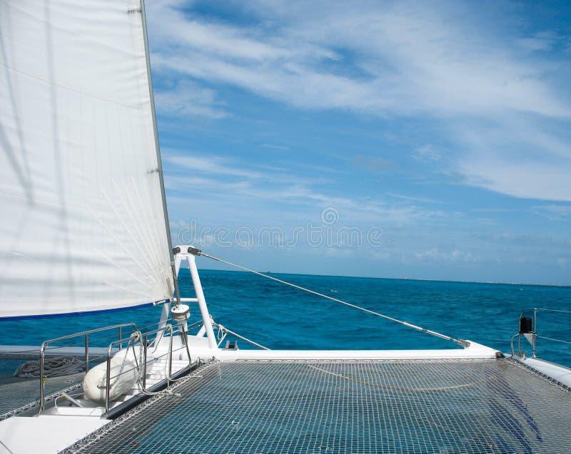 Zatoka Meksykańska z przodu catamaran obraz stock