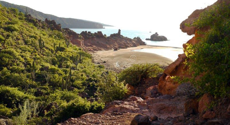 Zatoka na wyspie Espitu Santo w Morzu Corteza obraz royalty free