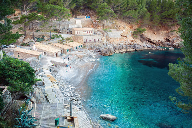 Zatoka Sa Calobra, Majorca obrazy royalty free