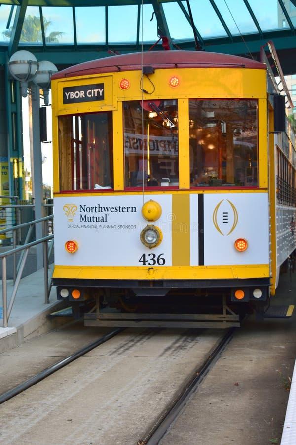 Zatoka Tampa tramwaj w YBOR mieście fotografia stock
