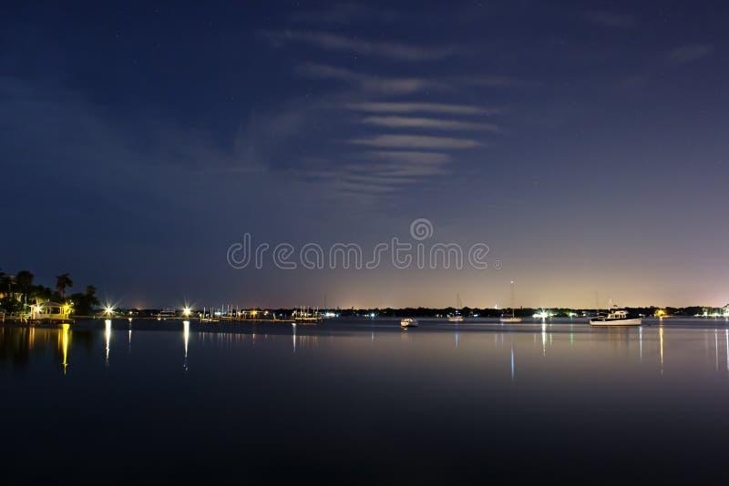 Zatoka Tampa - usta manat rzeka zdjęcie stock