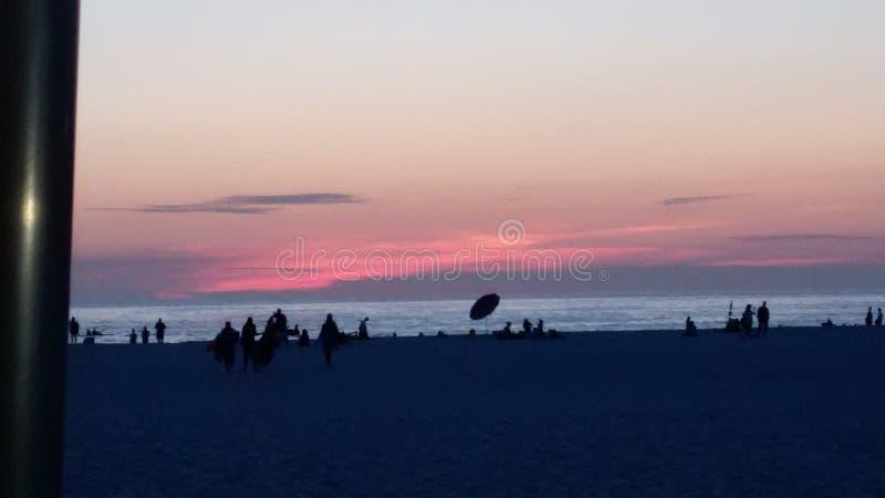 Zatoka Tampa zmierzch zdjęcie stock