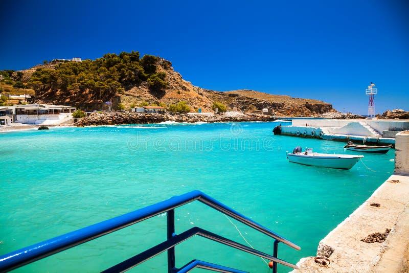 Zatoka wioska Chora Sfakion fotografia stock