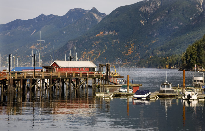 zatoki odbicie Canada odbicia mola odbicia Vancouver zdjęcia royalty free