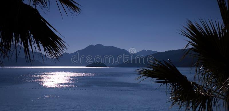 zatoki panoramy wschód słońca zdjęcie royalty free