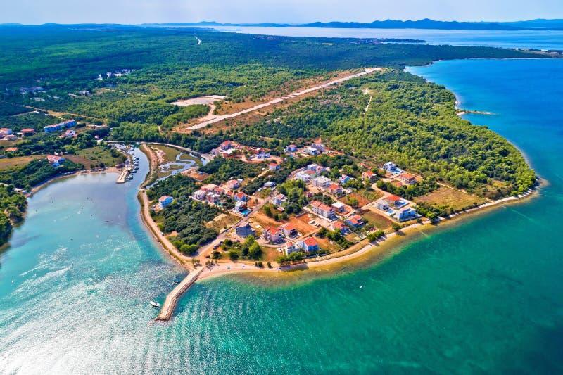 Zaton plażowy i nakrętki Punta Skala widok z lotu ptaka zdjęcia stock