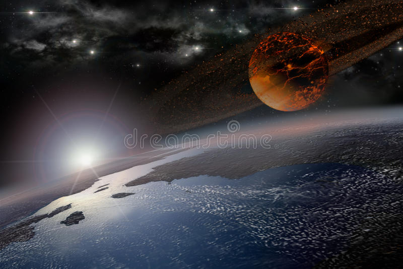 Zatracenie ranek na ziemi ilustracja wektor