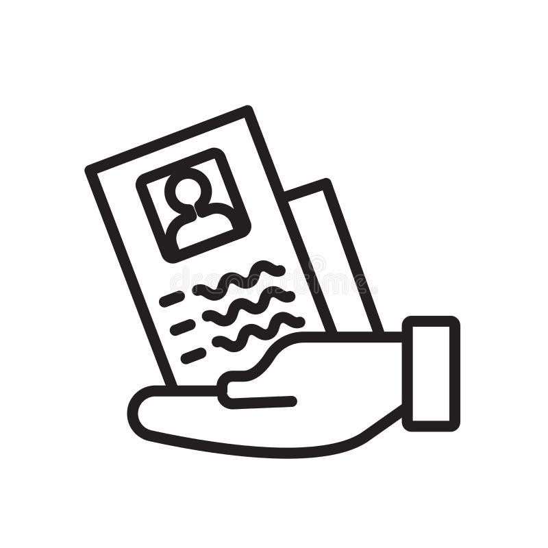 Zatrudniający ikona wektor odizolowywającego na białym tle, Zatrudnia znaka royalty ilustracja