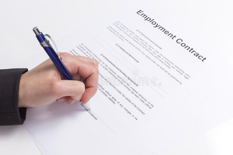 Zatrudnieniowy kontrakt obrazy royalty free