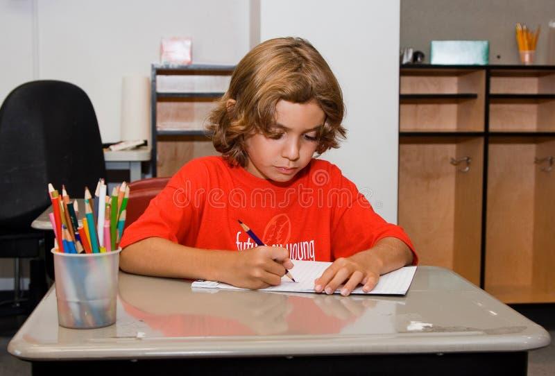 zatrzymanie pracy domowej obraz stock
