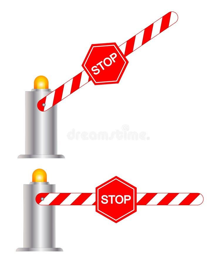 Zatrzymuje drogową barierę ilustracji