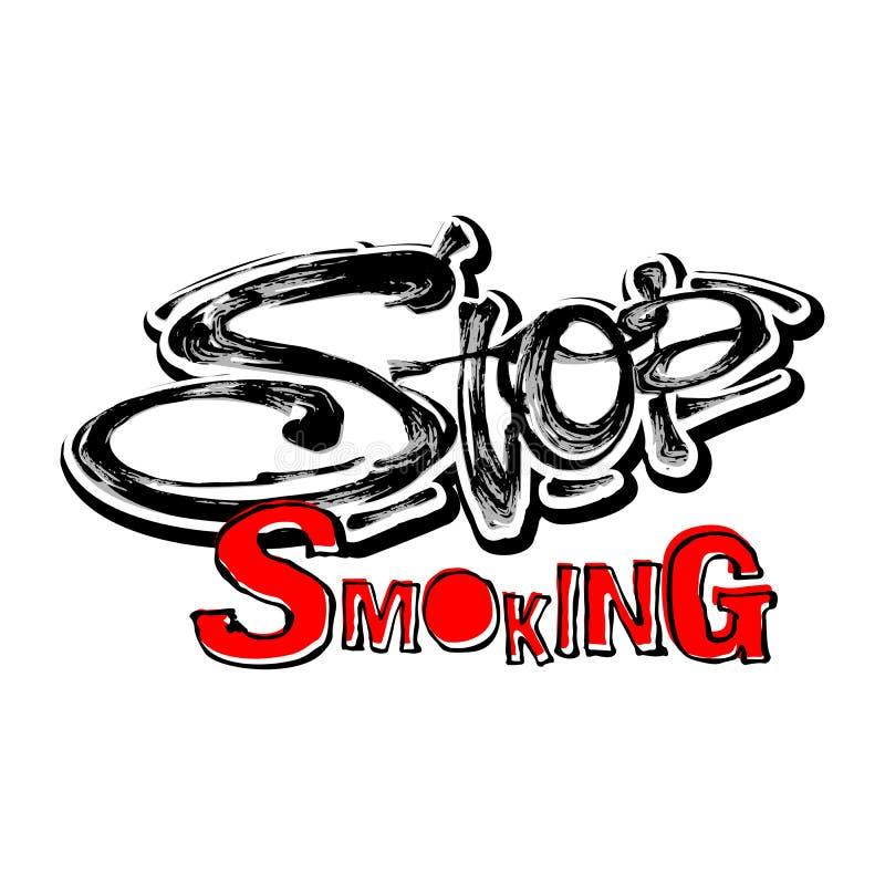 Zatrzymuje dymić motywacj zdrowie usługa conÑ  wpisowego ept ilustracji