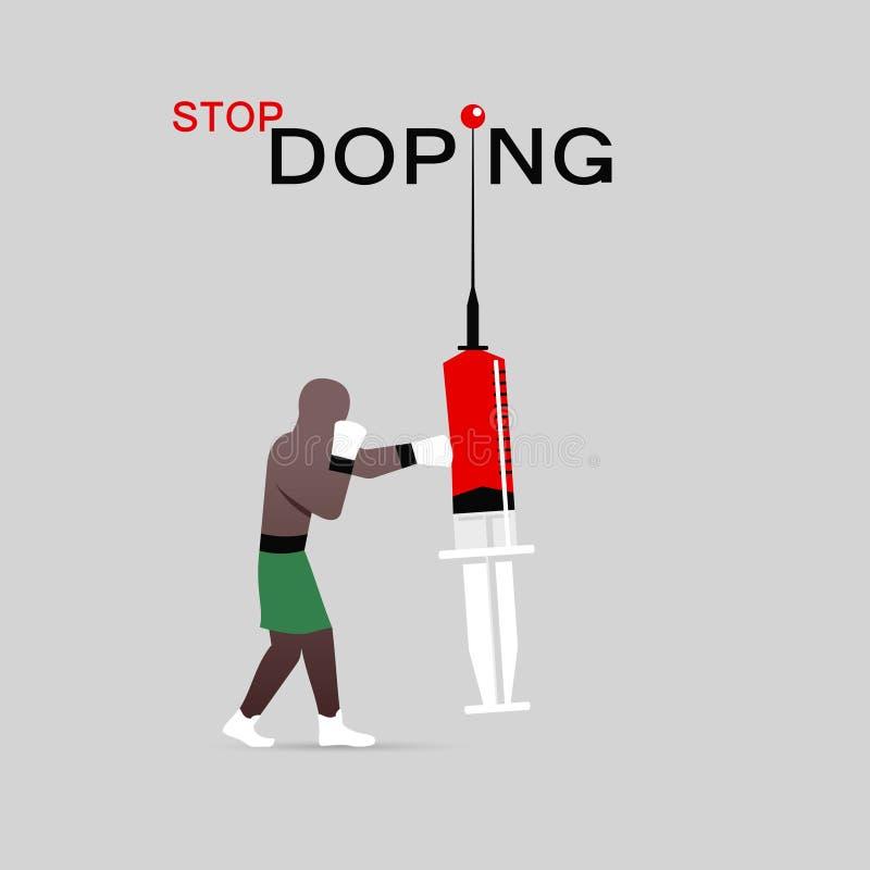 Zatrzymuje podawać doping ikonę royalty ilustracja