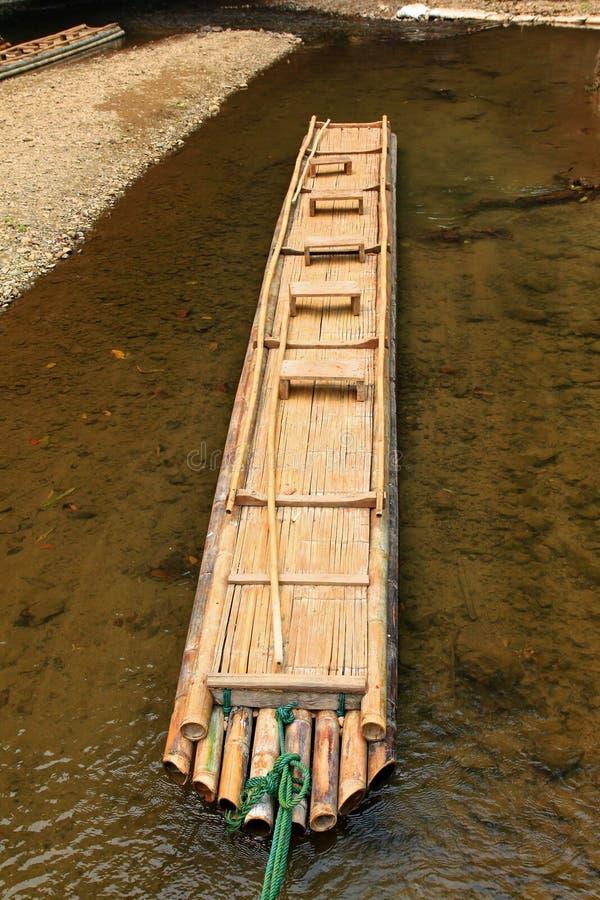 Zattera Di Bambù Fatta A Mano Immagini Stock Libere da Diritti