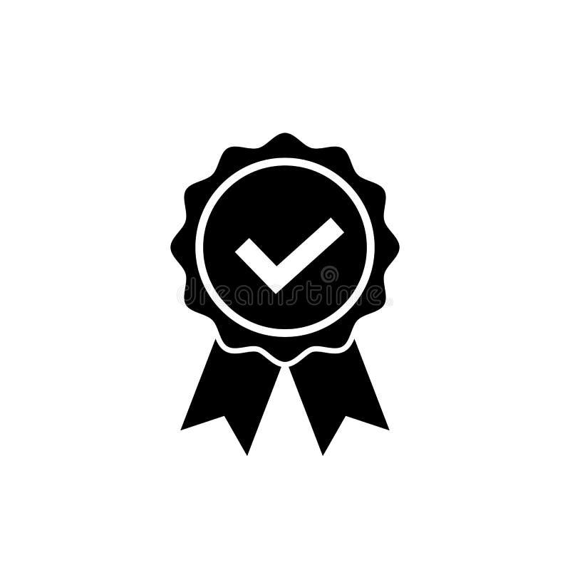 Zatwierdzająca lub Poświadczająca medal ikona nagroda symbol ilustracji