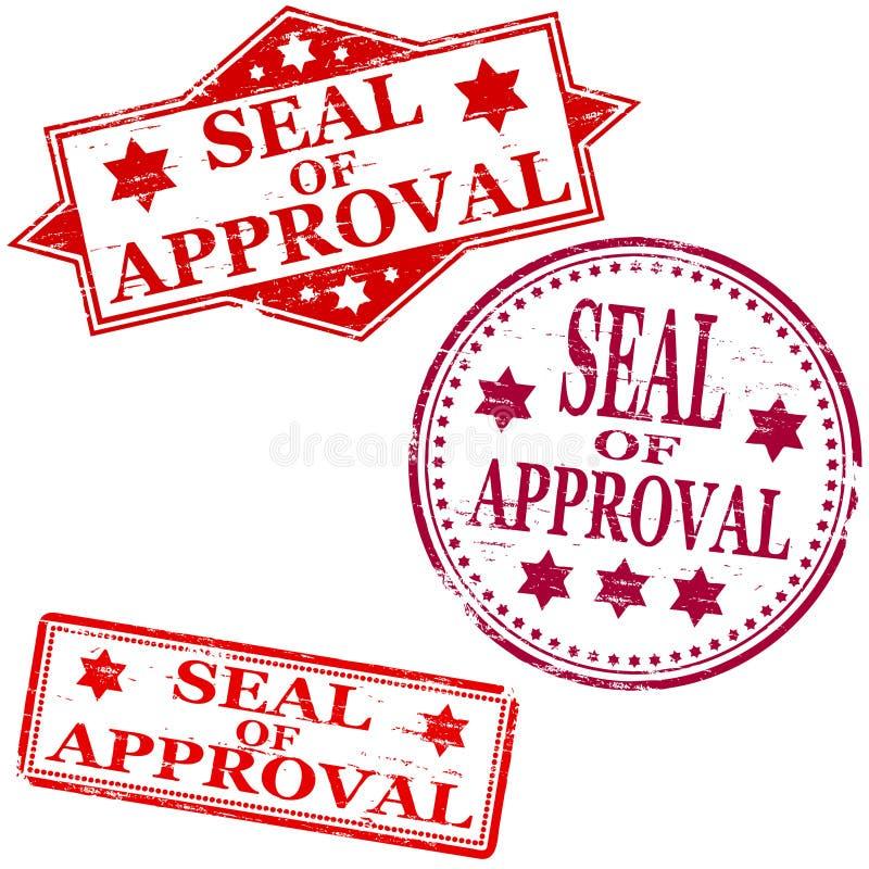 zatwierdzenia foki znaczek ilustracji
