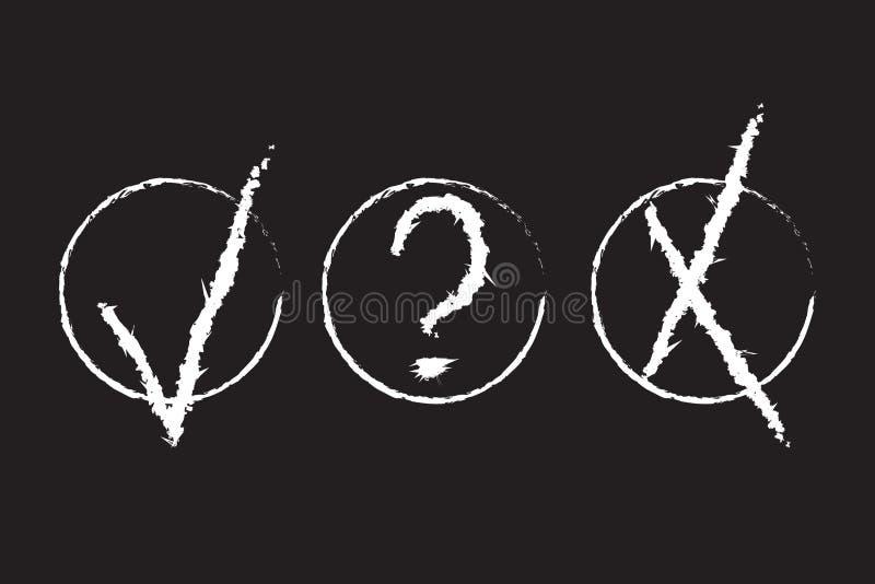 Zatwierdzenie Podpisuje Grunge projekt ilustracja wektor