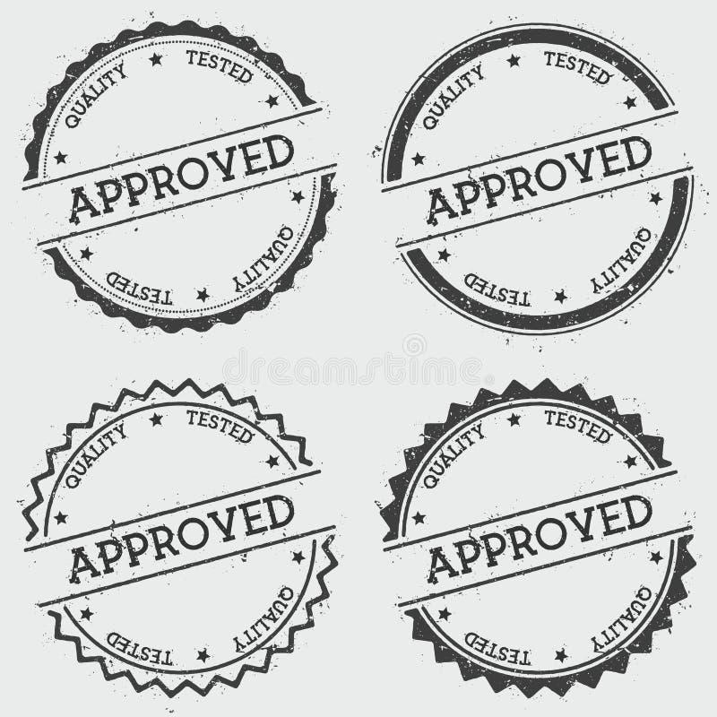 Zatwierdzona ilość Badający insygnia znaczek odizolowywający ilustracja wektor