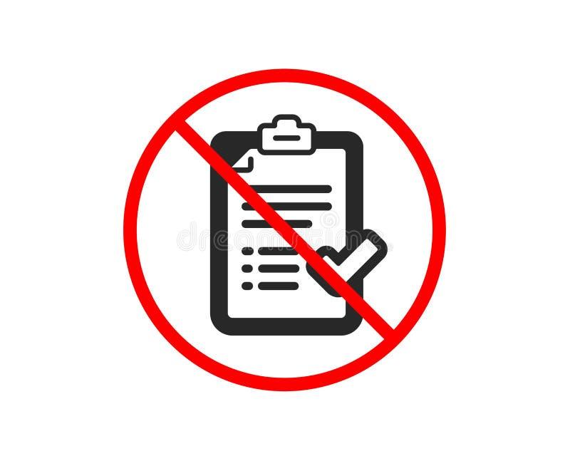 Zatwierdzona listy kontrolnej ikona Akceptuj?cy lub potwierdzaj?cy znak wektor ilustracji