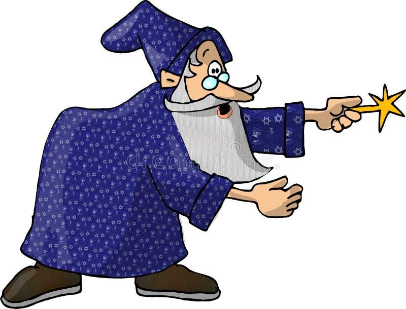 Download Zauberer 1 stock abbildung. Illustration von komisch, mann - 46501