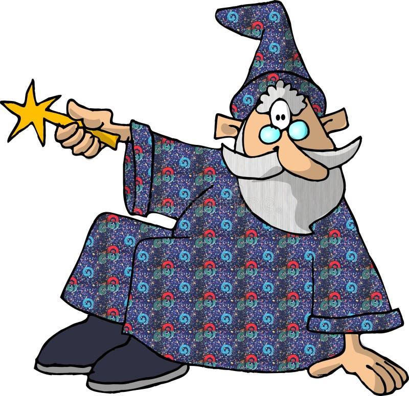 Download Zauberer 2 stock abbildung. Illustration von komisch, merlin - 46434
