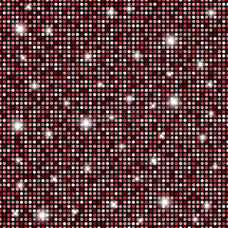 Zauberrot, nahtloser Beschaffenheitshintergrund der glänzenden Schwarzweiss-Runden lizenzfreie abbildung