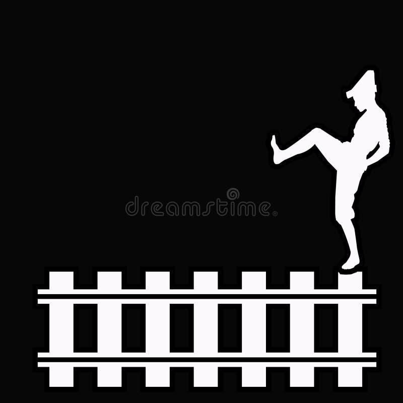 Zaun Boy lizenzfreie abbildung