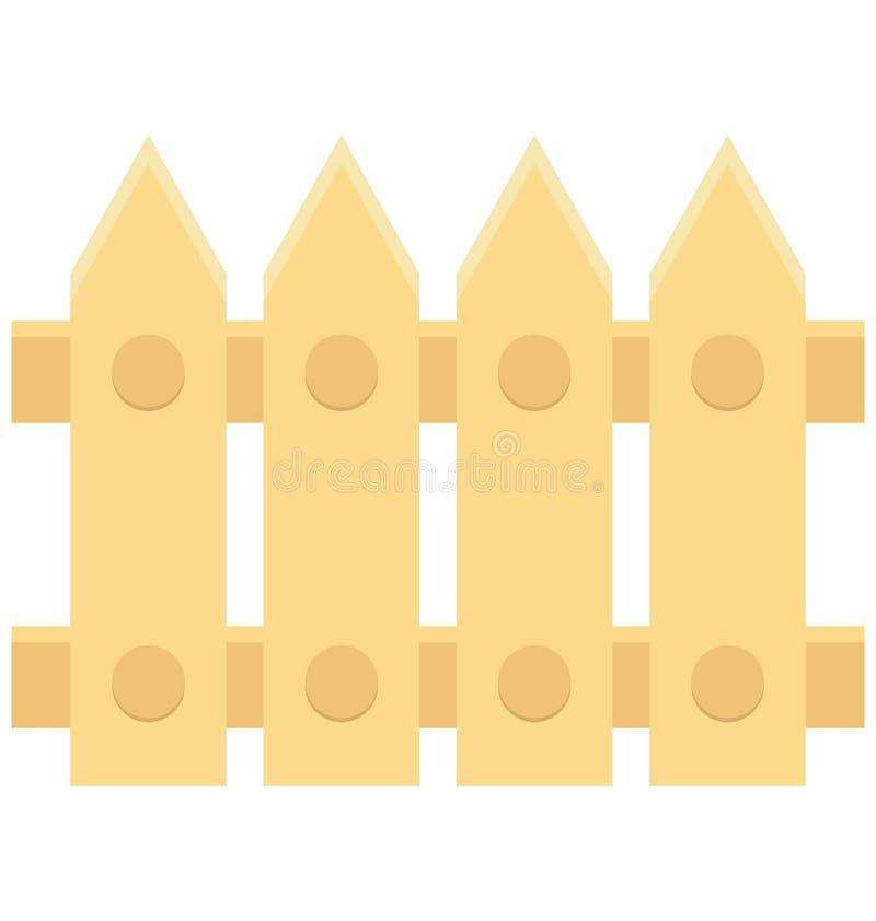 Zaun-Color Vector-Ikone, die leicht geändert werden oder redigieren kann lizenzfreie abbildung
