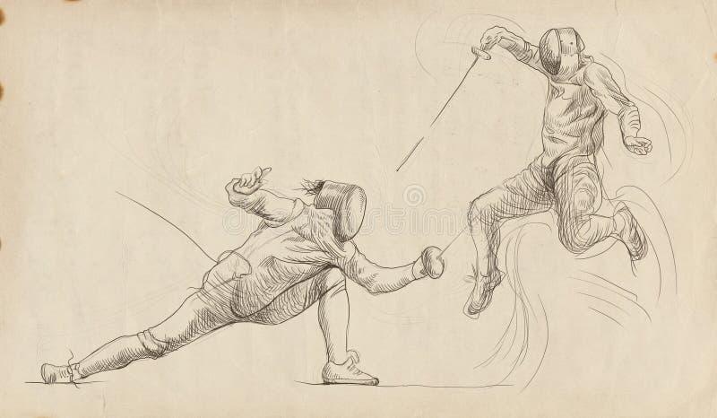Zaun des Duells lizenzfreie abbildung