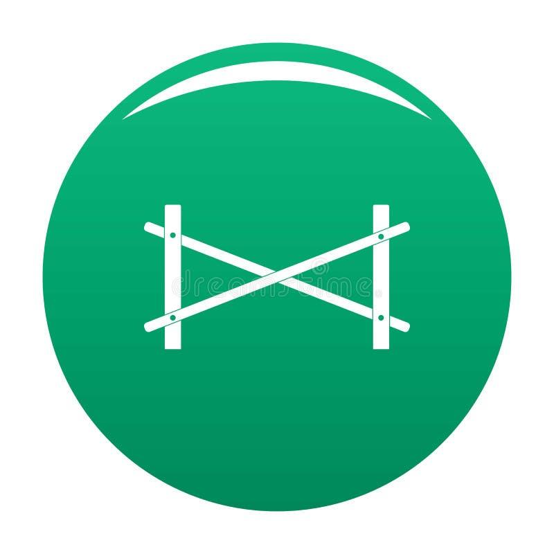 Zaun des Ikonen-Vektorgrüns mit zwei Stangen stock abbildung