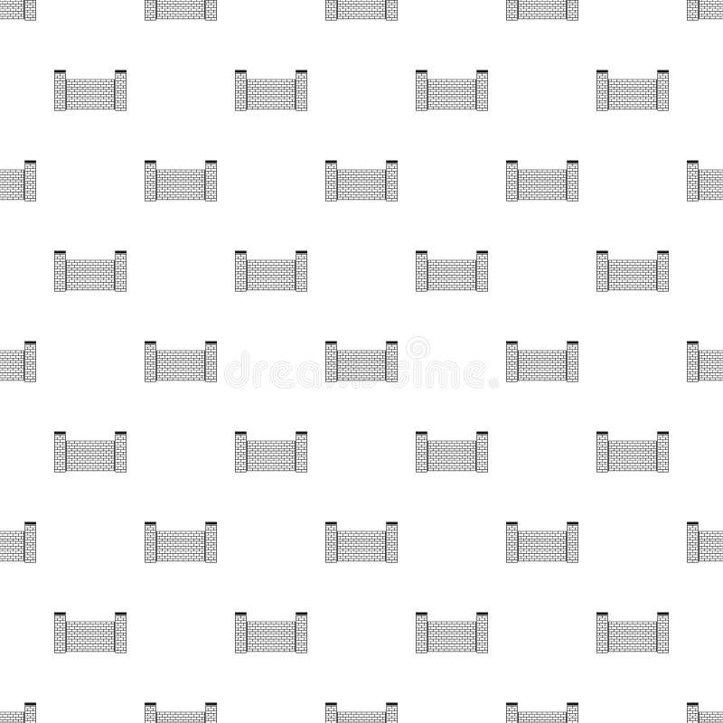 Zaun des nahtlosen Vektors des Ziegelsteinmusters vektor abbildung