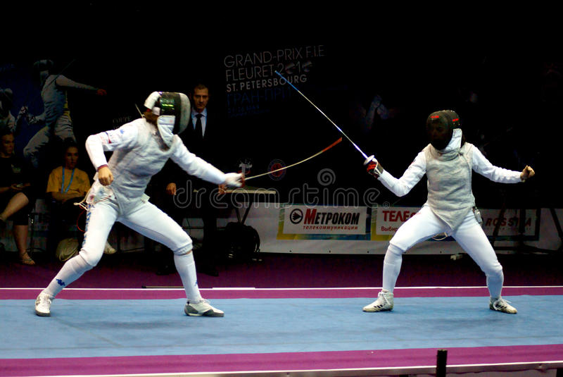 Zaun Des Weltcups Shanaeva 2010 Gegen Eriggo Arianna Redaktionelles Stockfoto