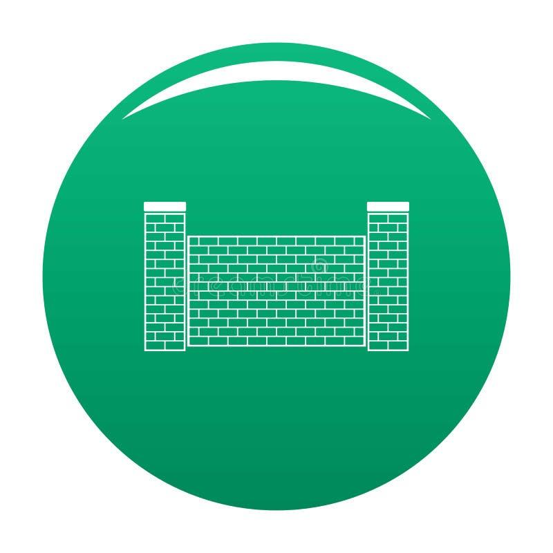 Zaun des Ziegelsteinikonen-Vektorgrüns stock abbildung