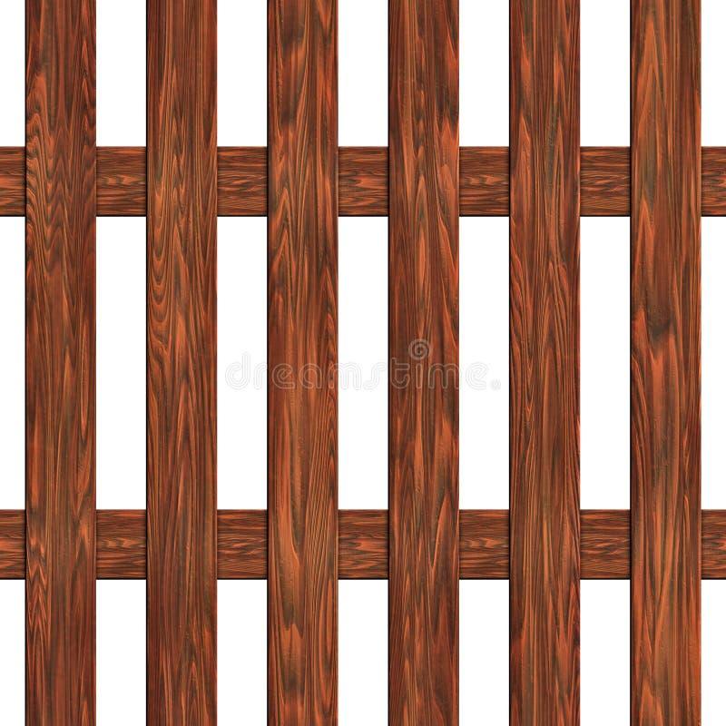 Zaun hergestellt von der nahtlosen Beschaffenheit der Bretter vektor abbildung