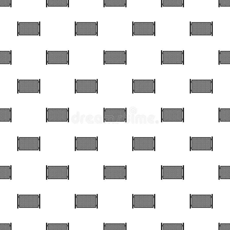 Zaun im nahtlosen Vektor des Stadtmusters lizenzfreie abbildung