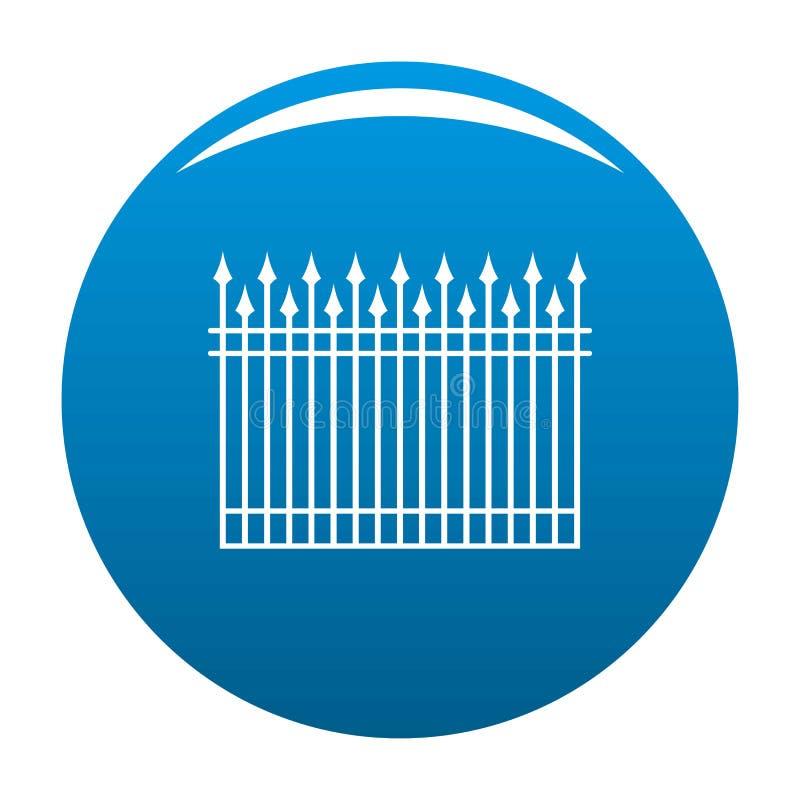 Zaun mit Metallstangen-Ikonenblau stock abbildung
