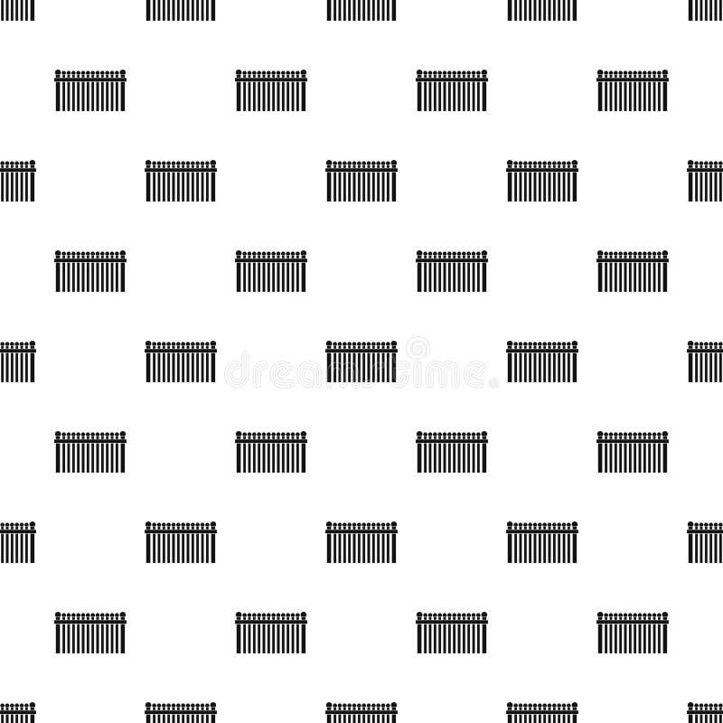 Zaun mit nahtlosem Vektor des Ballmusters lizenzfreie abbildung