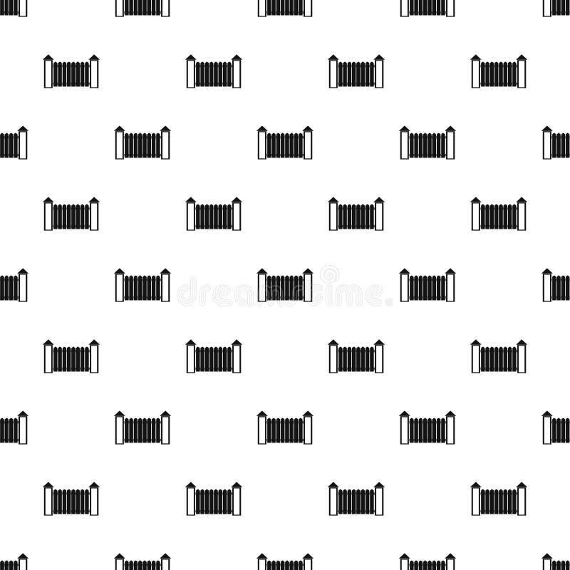 Zaun mit nahtlosem Vektor des Drehkopfmusters lizenzfreie abbildung