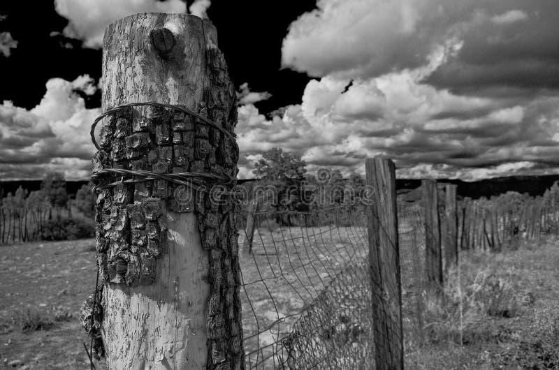 Zaun Post, Payson, AZ lizenzfreie stockfotografie