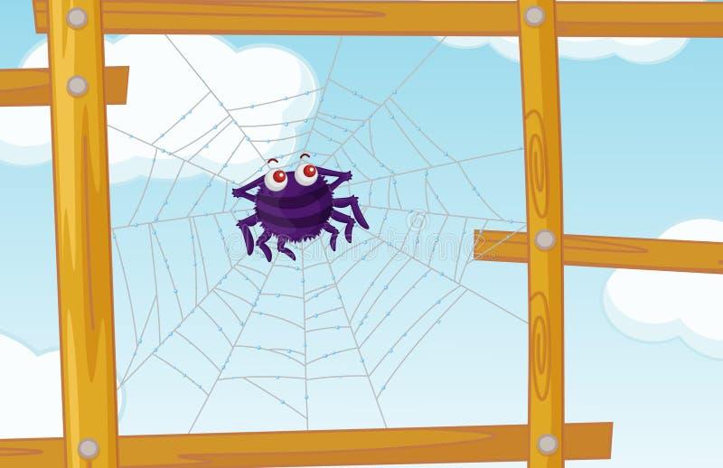 Zaun-Spinne stock abbildung