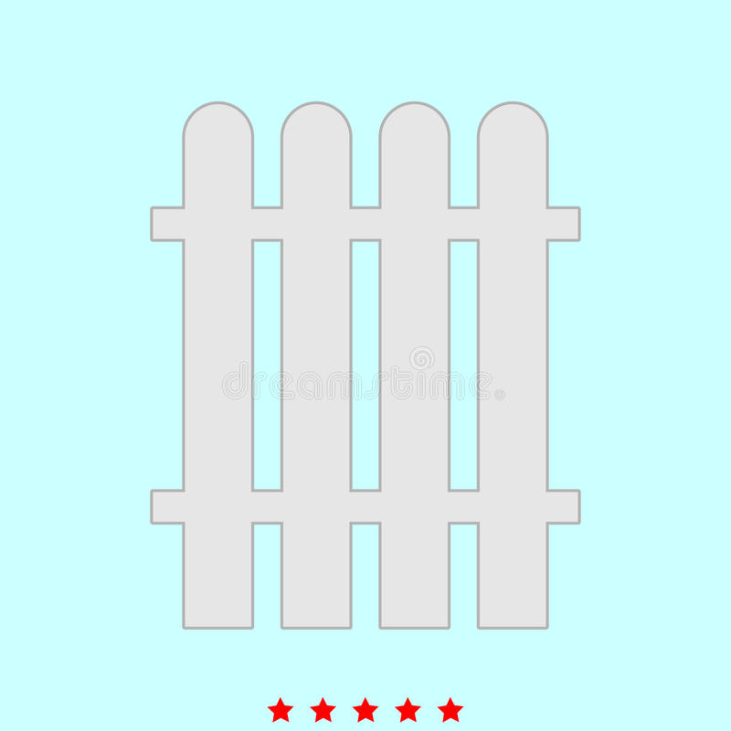 Zaun stellte es ist Farbikone ein vektor abbildung