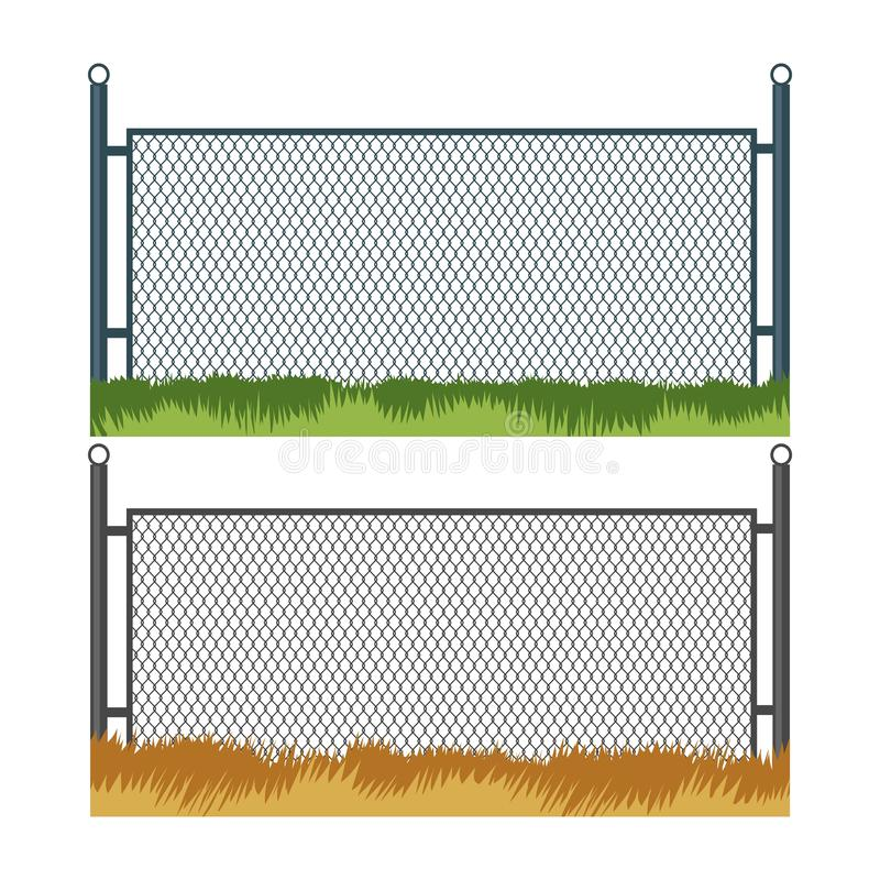Zaun und Gras lizenzfreie abbildung