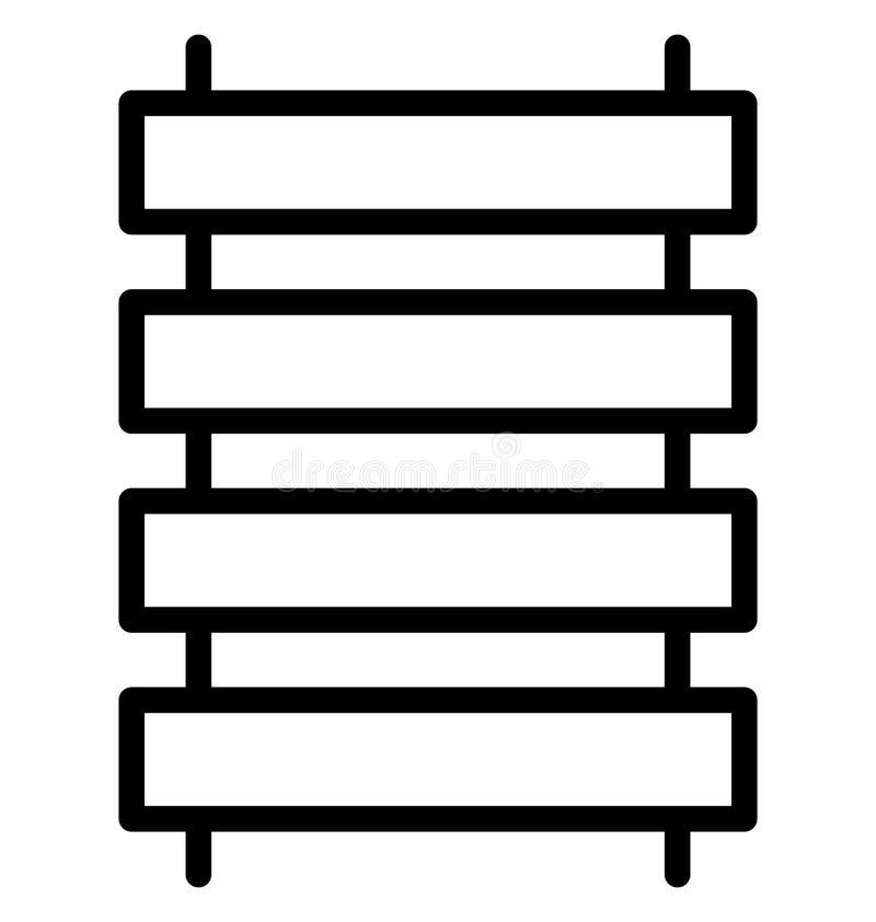 Zaun-Vector-Ikone, die leicht geändert werden oder in jeder möglicher Farbe redigieren kann lizenzfreie abbildung