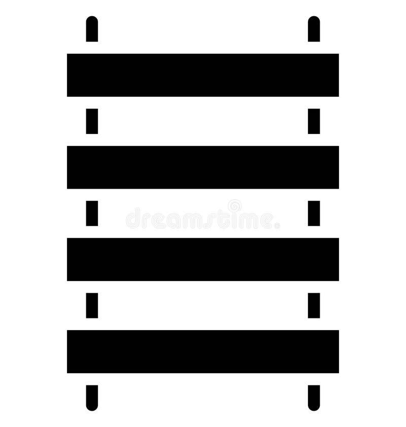 Zaun-Vector-Ikone, die leicht geändert werden oder in jeder möglicher Farbe redigieren kann vektor abbildung