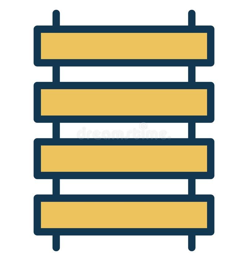 Zaun-Vector-Ikone, die leicht geändert werden oder in jeder möglicher Farbezaun-Vector-Ikone redigieren kann, die leicht geändert lizenzfreie abbildung